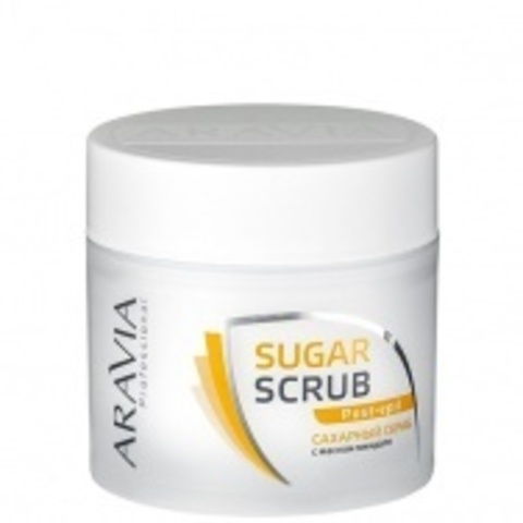 Сахарный скраб с маслом миндаля 300мл, ARAVIA
