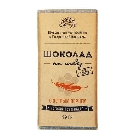 Шоколад на Меду  с Острым перцем 90 г.