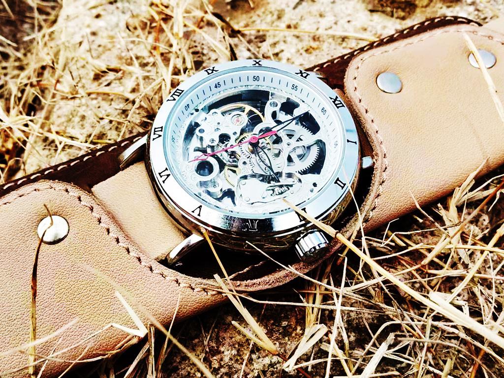 Часы скелетоны механические Cowboy YOURTIME