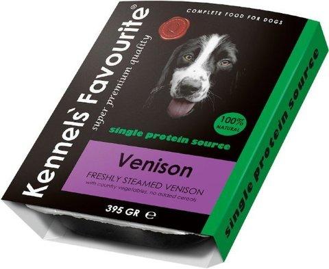 Kennels` Favourite 100% Venison Свежепареное мясо с олениной 395 гр.