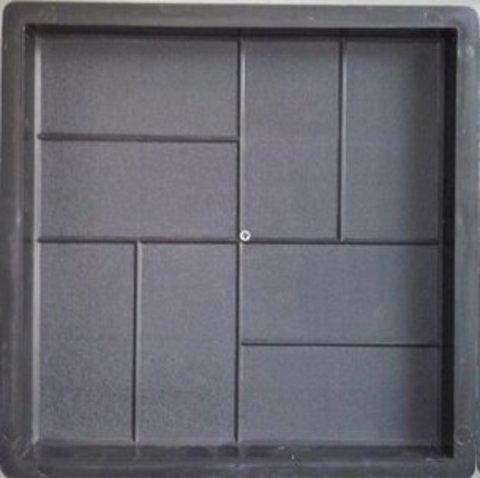 Форма Квадрат 8 кирпичей шагрень 400х400х50