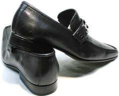 Деловые туфли мужские натуральная кожа Mariner 4901 Black.