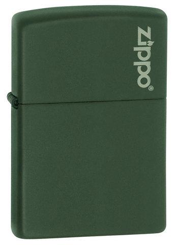 Зажигалка Zippo латунь с порошковым покрытием, зеленая, матовая, 36x12x56 мм123