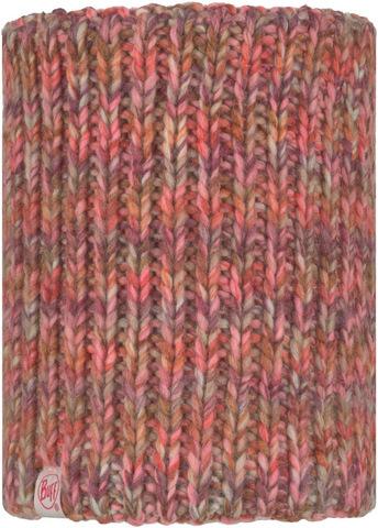 Вязаный шарф-труба с флисом детский Buff Neckwarmer Knitted Polar Lera Flamingo Pink фото 1
