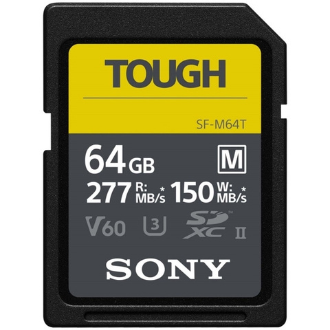 Sony SF-M64T карта памяти SD XC UHS-II серии Tough, 64 Гб