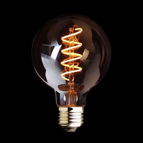 Светодиодная ретро лампа Эдисон G95 LED Spiral 4W E27