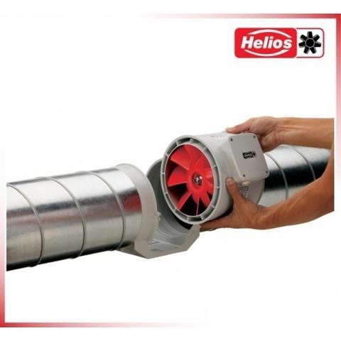 Канальный одноступенчатый вентилятор Helios MV 100 A