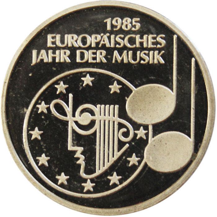 5 марок. Европейский год музыки. (F) Германия. Медноникель. 1985 г. PROOF