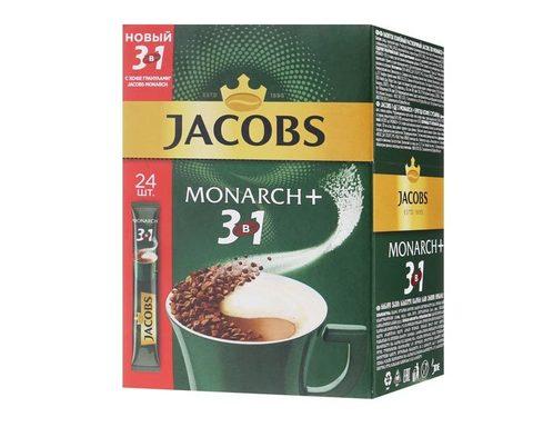 Кофе растворимый Jacobs 3 в 1 Monarch, 24 стика