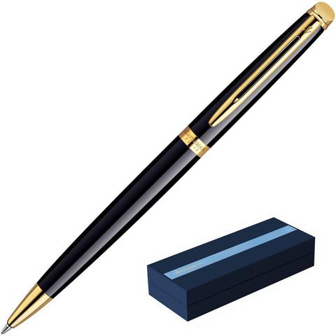 Ручка шариковая Waterman Hemisphere цвет чернил синий цвет корпуса черный с позолотой (артикул производителя S0920670)
