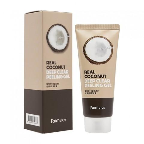 Пилинг-скатка с экстрактом кокоса  FarmStay Rear Coconut Deep Clear Peeling Gel 100 мл.