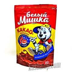 Какао гранулированное 'Белый мишка', упаковка 150г