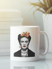 Кружка с рисунком Фрида Кало (Frida Kahlo) белая 0012