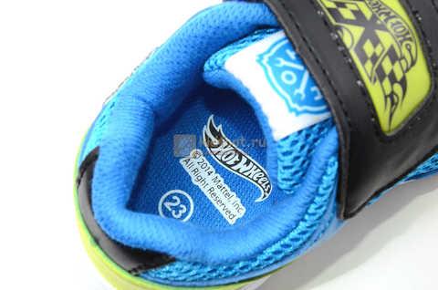 Светящиеся кроссовки Хот Вилс (Hot Wheels) на липучке для мальчиков, цвет синий. Изображение 15 из 15.