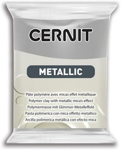 Полимерная глина CERNIT METALLIC 56г, серебро 080