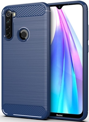 Чехол Xiaomi Redmi Note 8T цвет Blue (синий), серия Carbon, Caseport