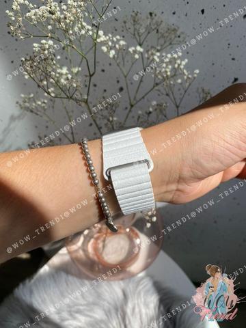 Ремешок Apple watch 38mm Leather Loop /white/