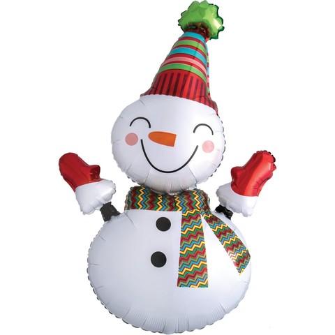 Веселый снеговик 99см