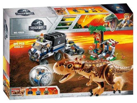 Конструктор Dinosaur World 10926 Побег в гиросфере от карнотавра