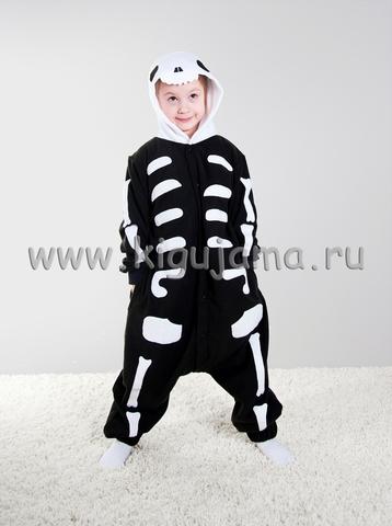 "Пижама кигуруми детская ""Скелет"""
