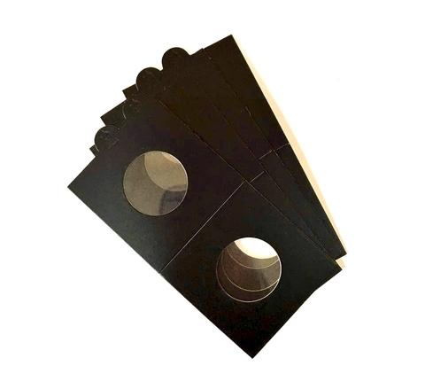 Комплект самоклеющихся холдеров для монет 50 шт. ∅27,5 мм (цвет черный)