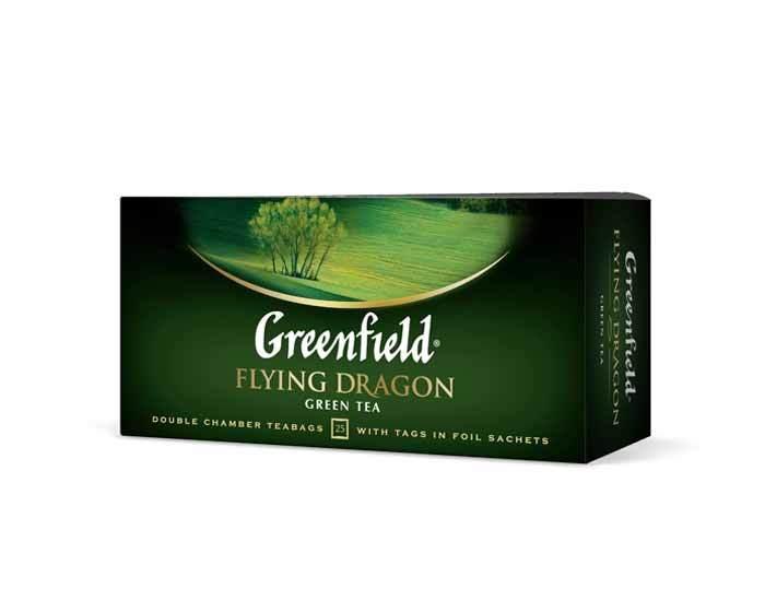 Чай зеленый в пакетиках из фольги Greenfield Flying Dragon, 25 пак/уп