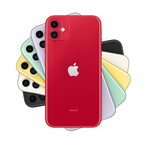 Смартфон Apple iPhone 11 64GB Red (красный)-РОСТЕСТ-