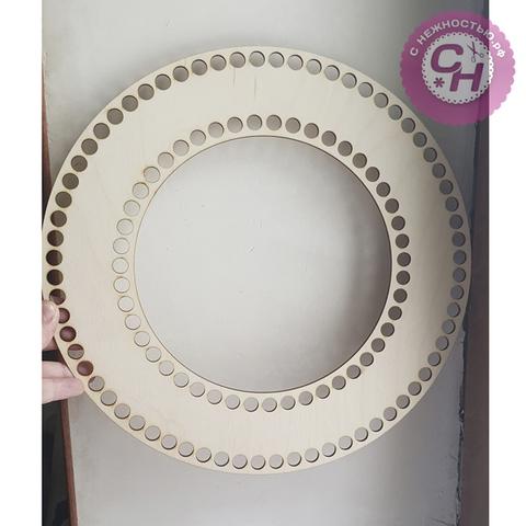 Венок-кольцо 30 см, деревянное , 1 шт.