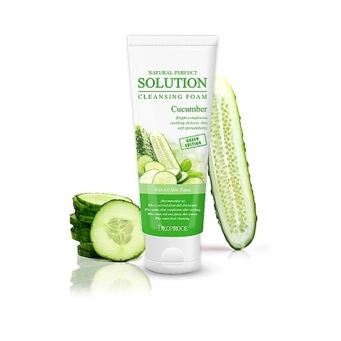NATURAL PERFECT SOLUTION CLEANSING FOAM GREEN EDITION CUCUMBER