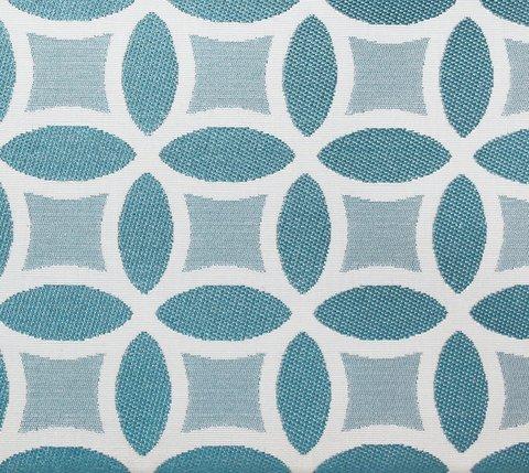 Портьерная ткань двухсторонний жаккард Любава бирюзовый