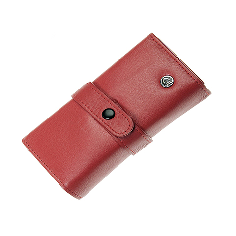Маникюрный набор GD, 7 предметов, цвет красный, кожаный футляр