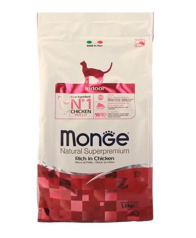 Monge Cat Indoor корм для домашних кошек 1,5 кг