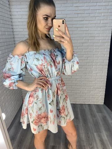 голубое летнее платье nadya