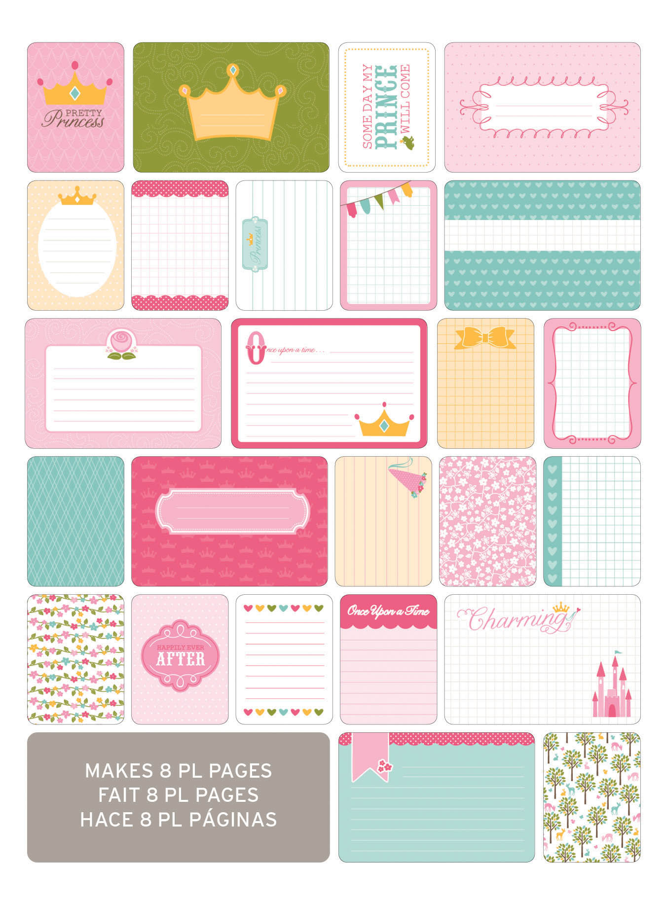 Маленький набор карточек Life Project- Princess-40шт