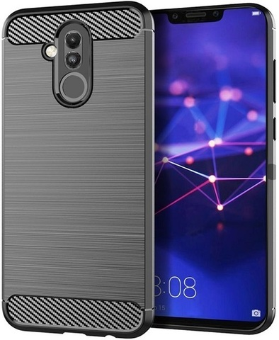Чехол Carbon для Huawei Mate 20 Lite серия Карбон | серый