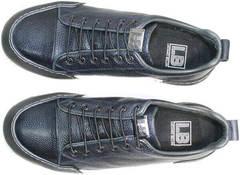 Демисезонные кеды кроссовки мужские синие Luciano Bellini C6401 TK Blue.