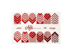 Фольга для дизайна ногтей цвет красный 40
