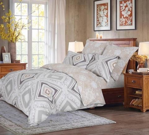 Сатиновое постельное бельё  1,5 спальное Сайлид  В-192