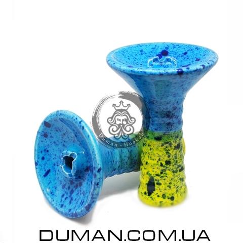 Чаша GrynBowls для кальяна |Big Alien Green-Blue