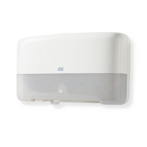 Диспенсер для туалетной бумаги в мини-рулонах Tork Elevation Т2 555500 пластиковый белый