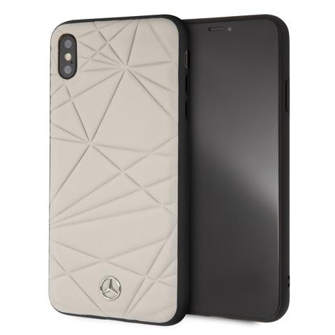 Mercedes / чехол для телефона iPhone XS Max   Twister Hard Leather Grey