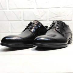 Мужские классические туфли дерби koc 3416-1 Black Leather.