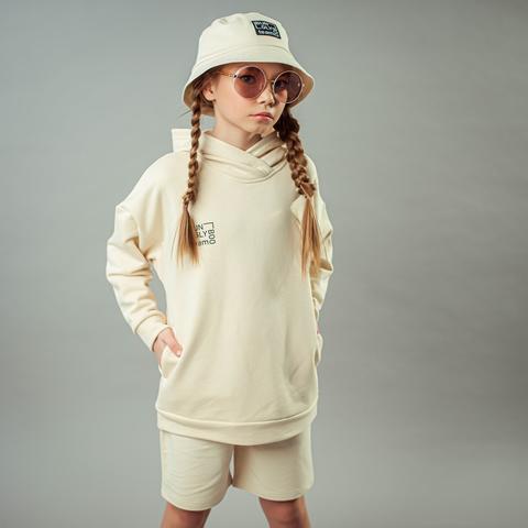 Bb team oversized hoodie for teens - Tofu