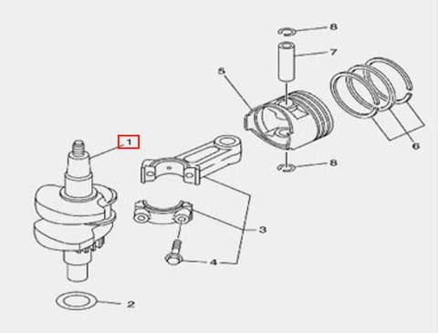 Коленвал для лодочного мотора F5 Sea-PRO(3-1)