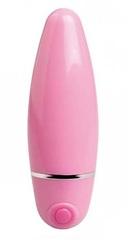 Розовый компактный вибратор и гладкой поверхностью - 10 см.