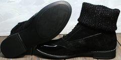 Купить замшевые ботинки женские Kluchini 5161 k255 Black