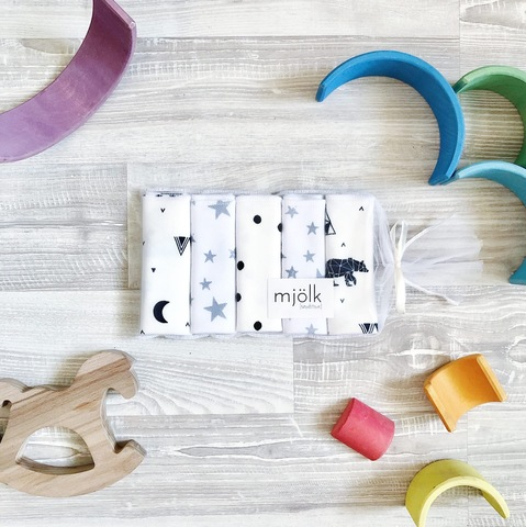 Набор платочков-слюнявчиков Mjölk  Animals