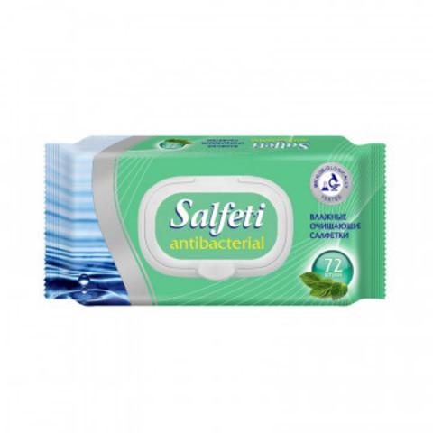 Салфетки влажные Salfeti Antibac 72шт/уп антибактериальные с клапаном 48397