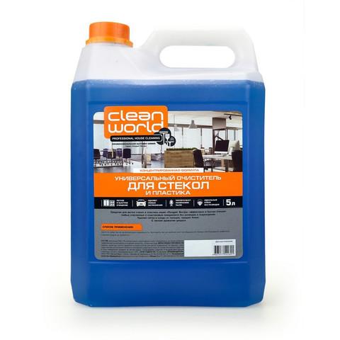 Средство для стекол и зеркал Чисто Стекла Clean World 5 л (с нашатырным спиртом)