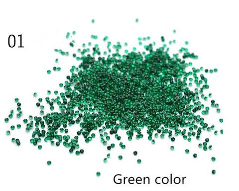 Хрустальная крошка/пиксики/№1 цвет зеленый купить за 400руб